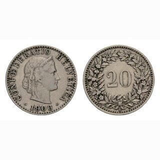 20 Rappen 1906 Schweiz