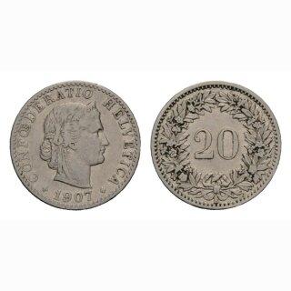 20 Rpapen 1907 Schweiz