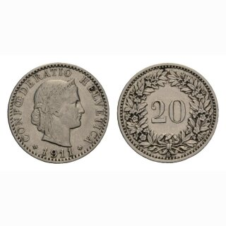 20 Rappen 1911 Schweiz
