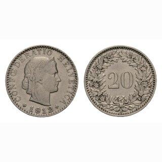 20 Rappen 1912 Schweiz