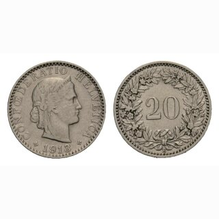 20 Rappen 1913 Schweiz