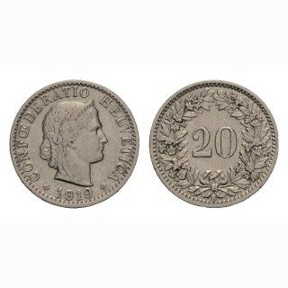 20 Rappen 1919 Schweiz