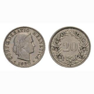 20 Rappen 1920 Schweiz
