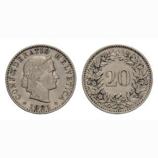 20 Rappen 1921 Schweiz
