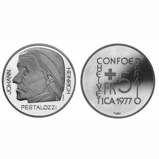 Schweiz 5 Franken 1977 B Pestalozzi