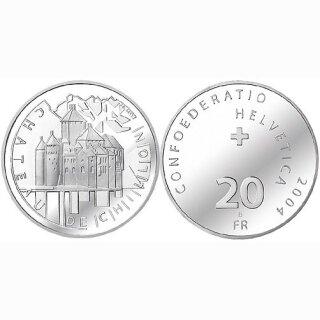 Schweiz 20 Franken 2004 B Schloss Chillon