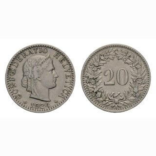 20 Rappen 1924 Schweiz