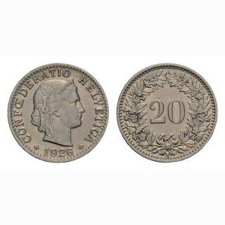 20 Rappen 1926 Schweiz
