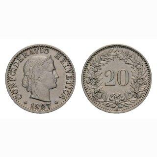 20 Rappen 1927 Schweiz