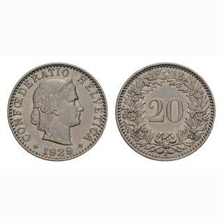 20 Rappen 1929 Schweiz
