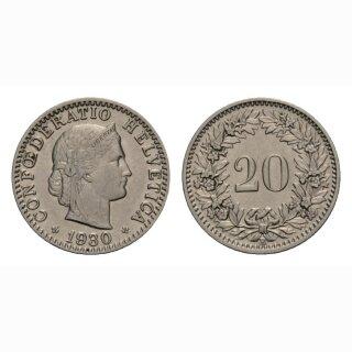 20 Rappen 1930 Schweiz