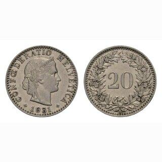 20 Rappen 1931 Schweiz