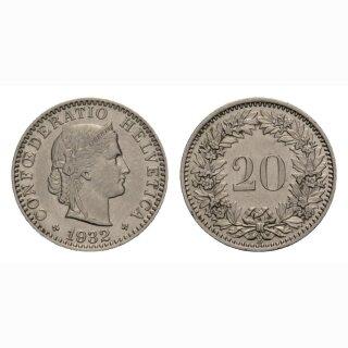 20 Rappen 1932 Schweiz