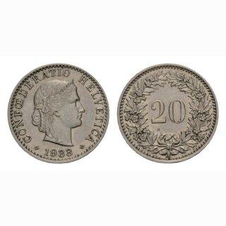 20 Rappen 1933 Schweiz