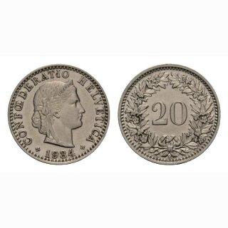 20 Rappen 1934 Schweiz