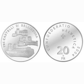 Schweiz 20 Franken 2004 B Burgen von Bellinzona