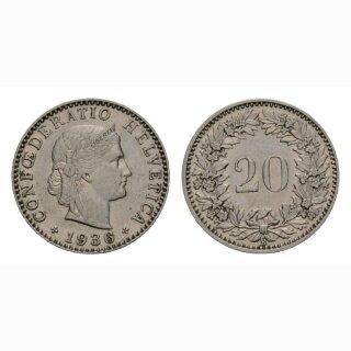 20 Rappen 1936 Schweiz