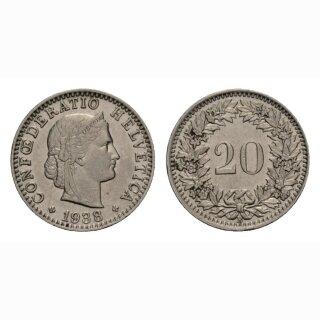 20 Rappen 1938 Schweiz