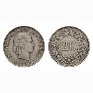 20 Rappen 1939 Schweiz