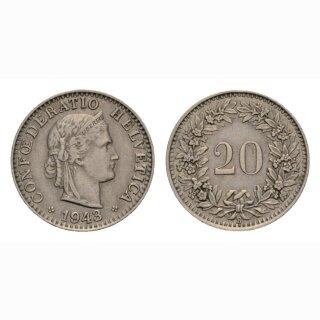 20 Rappen 1943 Schweiz