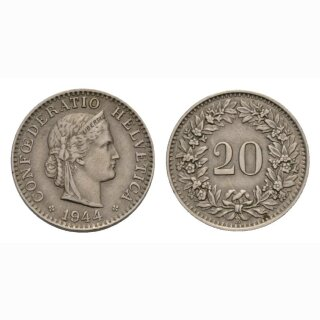 20 Rappen 1944 Schweiz