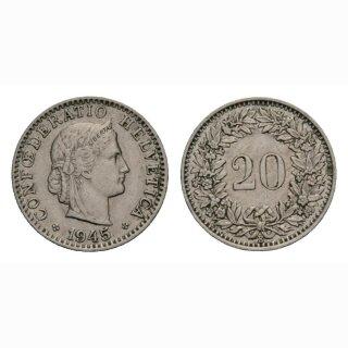 20 Rappen 1945 Schweiz