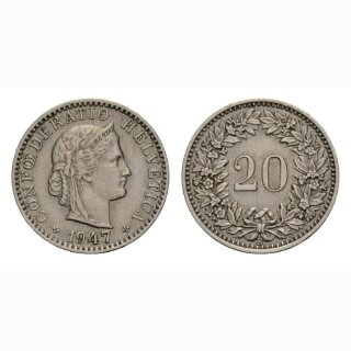 20 Rappen 1947 Schweiz