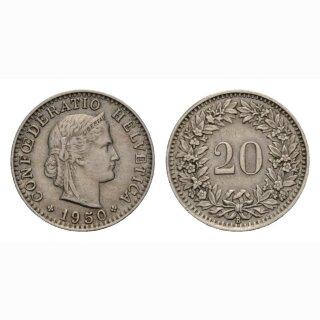 20 Rappen 1950 Schweiz