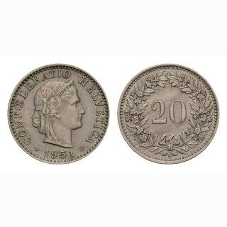 20 Rappen 1951 Schweiz