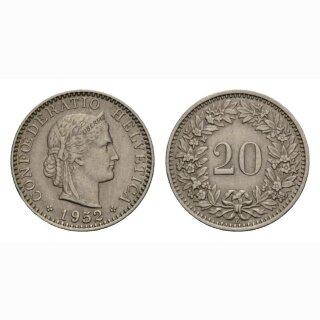 20 Rappen 1952 Schweiz