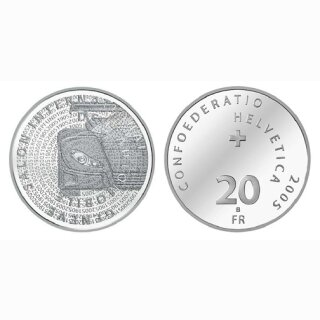 Schweiz 20 Franken 2005 B Autosalon Genf