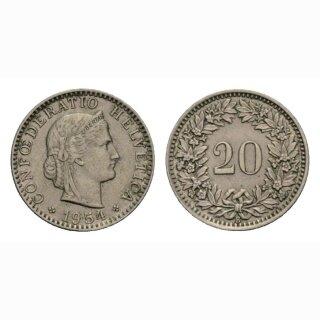 20 Rappen 1954 Schweiz