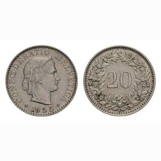 20 Rappen 1955 Schweiz