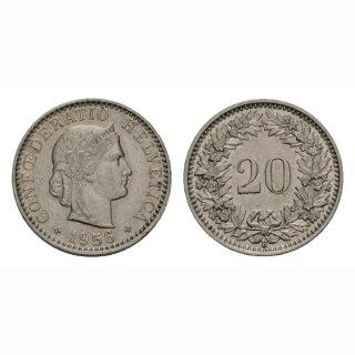 20 Rappen 1956 Schweiz