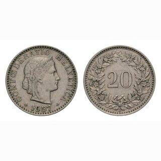 20 Rappen 1957 Schweiz