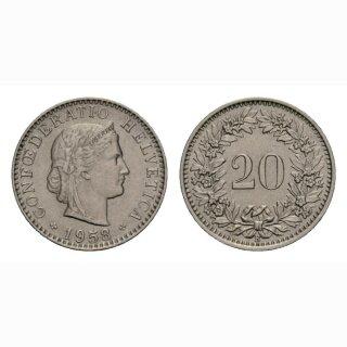 20 Rappen 1958 Schweiz