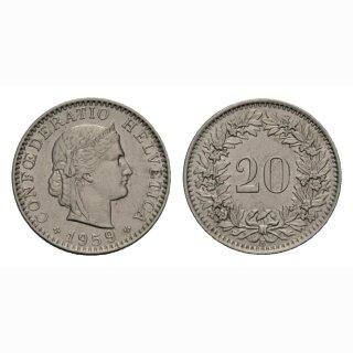 20 Rappen 1959 Schweiz