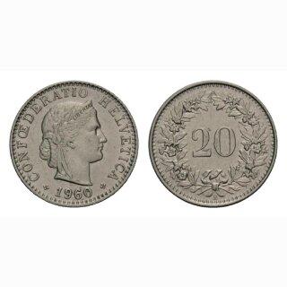 20 Rappen 1960 Schweiz