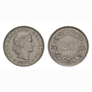 20 Rappen 1961 Schweiz