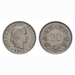 20 Rappen 1962 Schweiz