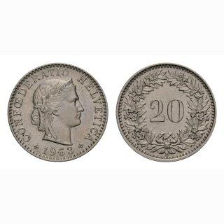 20 Rappen 1963 Schweiz