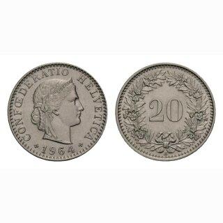 20 Rappen 1964 Schweiz