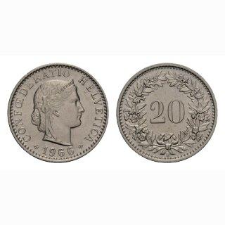 20 Rappen 1966 Schweiz