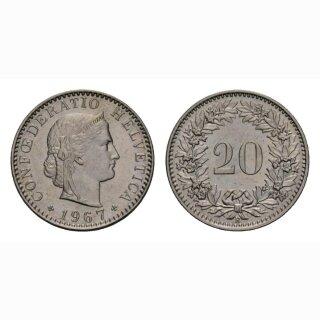 20 Rappen 1967 Schweiz