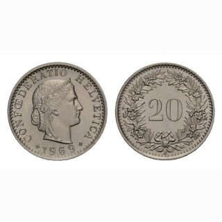 20 Rappen 1969 Schweiz
