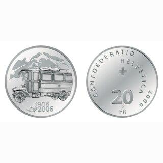 Schweiz 20 Franken 2006 B 100 Jahre Postauto