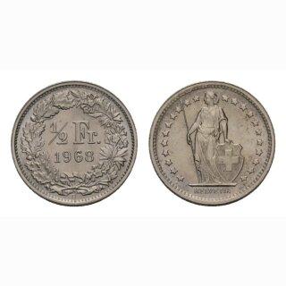 50 Rappen 1968 B Schweiz
