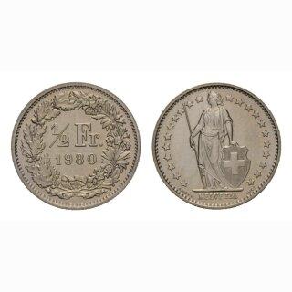 50 Rappen 1980 Schweiz