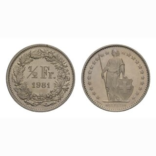50 Rappen 1981 Schweiz