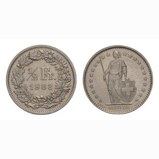 50 Rappen 1982 Schweiz